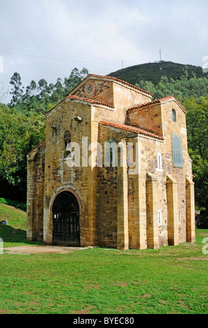 San Miguel de Lillo, pre-Romanesque palace chapel, church, UNESCO World Heritage Site, Oviedo, Asturias, Spain, - Stock Photo
