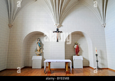 Monasterio de Santa Maria la Real de Irache, Benedictine monastery and church, Way of St. James, Estella, Navarra, - Stock Photo