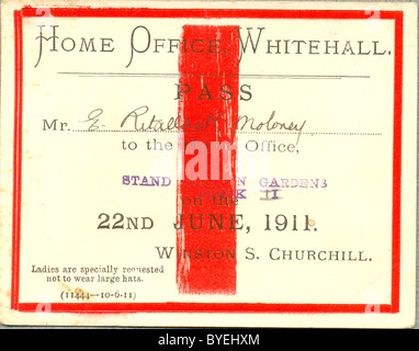 Ticket to watch Coronation procession of King George V and Queen Mary - Stock Photo
