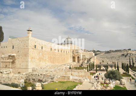 Temple Mount, Al Aqsa mosque, Jerusalem - Stock Photo