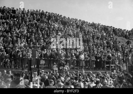 Crowd at the Toll Selkirk Common Riding 1949 - Stock Photo