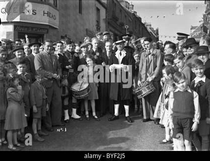 Crying of the Burley Selkirk Common Riding 1949 - Stock Photo