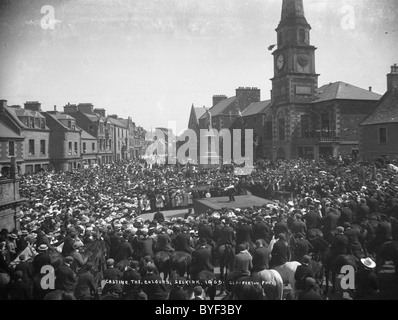 Casting the Colours Selkirk Common Riding 1905 - Stock Photo