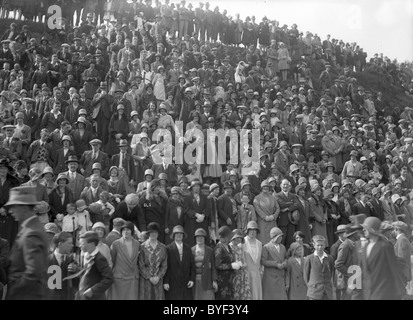 Crowd at the Toll Selkirk Common Riding 1930 - Stock Photo