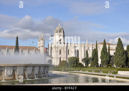 The Monastry , Moistero Dos Jeronimos , Lisbon , Portugal - Stock Photo
