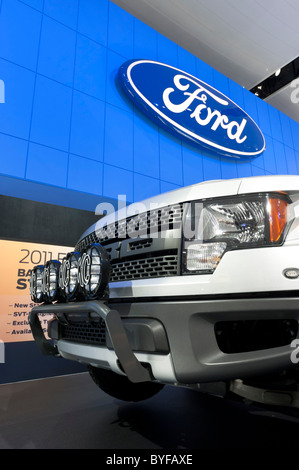 Ford F-150 SVT Raptor pickup truck at the 2011 North American International Auto Show in Detroit - Stock Photo