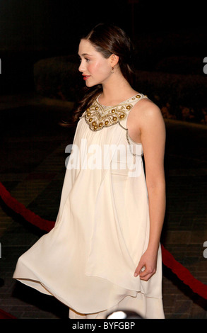 Emmy Rossum Los Angeles Premiere of 'Zodiac' at the Paramount Theatre Los Angeles, CA - 01.03.07 - Stock Photo