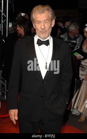 Sir Ian McKellen The Orange British Academy Film Awards (BAFTAs) after-party held at Grosvenor House - Arrivals - Stock Photo