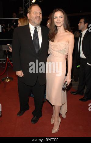 Harvey Weinstein and Georgina Chapman The Orange British Academy Film Awards (BAFTAs) party after show held at Grosvenor - Stock Photo