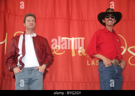 Wax Statues Madame Tussauds Las Vegas unveiled wax figures of NASCAR Stars Richard Petty and Dale Earnhardt Jr at - Stock Photo