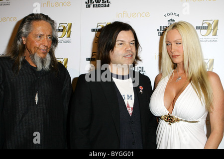 Guest, DJ Paul Oakenfold, Brittaney Starr at Studio 54, Grand Hotel Casino Las Vegas, Nevada - 20.02.07 - Stock Photo