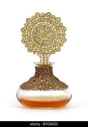 Very old perfume bottle - Stock Photo