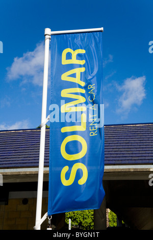 Solmar car hire / rental office at Seville / Sevilla airport. Spain. - Stock Photo