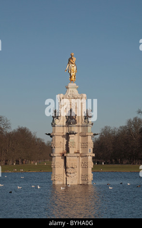 The newly restored 'Diana Fountain' in Bushy Park (Royal Parks), West London, UK. - Stock Photo