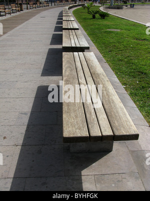 Row of seats in public place - Stock Photo