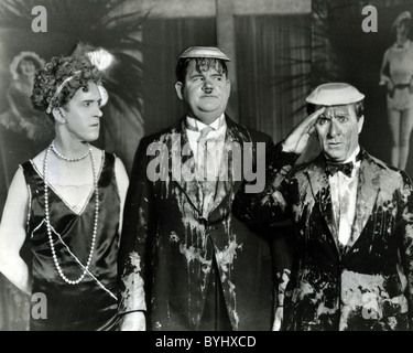THAT'S MY WIFE 1929 Hal Roach/MGM film with Stan Laurel at left, Oliver Hardy centre and Harry Bernard - Stock Photo