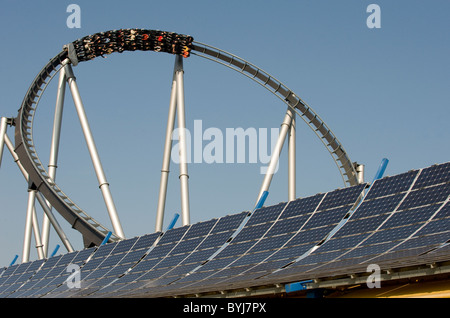 Silver Star at Europa-Park in Rust, Germany - Stock Photo