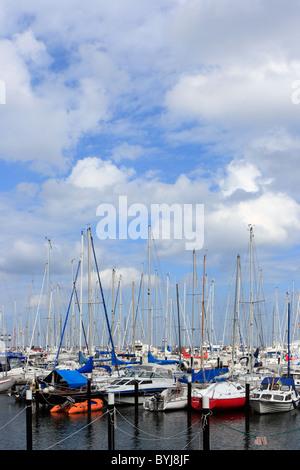 A marina, Damp, Germany - Stock Photo
