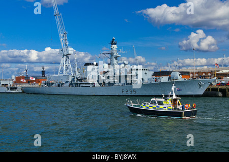 The Royal Navy Type 23 (Duke class) frigate HMS RICHMOND in Portsmouth, England, United Kingdom. - Stock Photo