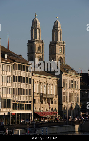 A view onto the Old Town, Zurich, Switzerland - Stock Photo
