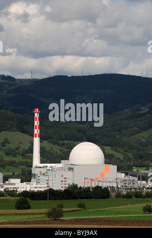 Nuclear power plant, Leibstadt, Switzerland - Stock Photo