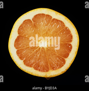 Cut section of a citrus fruit grapefruit variety Red Blush - Stock Photo