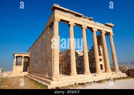 The Erechtheum Temple, the Acropolis of Athens in Greece. - Stock Photo