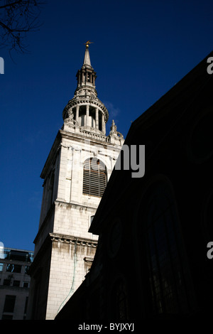 St Mary le Bow church on Cheapside, City of London, UK - Stock Photo