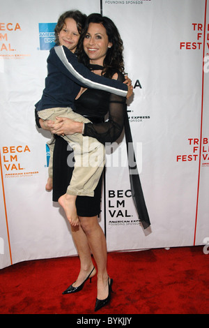 Bobby Coleman, Minnie Driver  at the NY Premiere of 'Take' 2007 Tribeca Film Festival held at Clearview Chelsea - Stock Photo