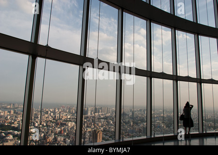 Views of Tokyo from the 'Tokyo City View' at Roppongi Hills, Roppongi district, Tokyo, Japan. - Stock Photo
