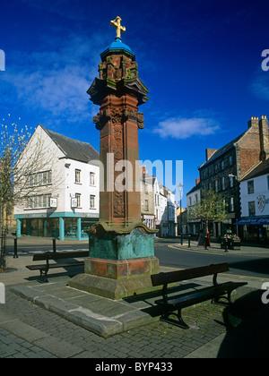 Hexham Market Cross Stock Photo Royalty Free Image