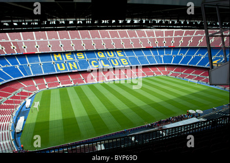 Nou Camp Stadium Barcelona Spain - Stock Photo