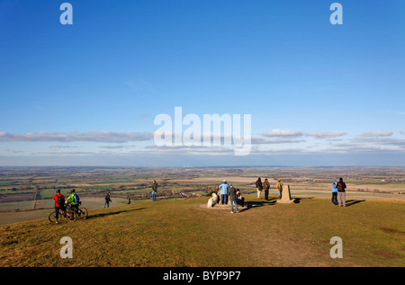 Ivinghoe Beacon in the Chiltern Hills, Buckinghamshire, England, UK - Stock Photo