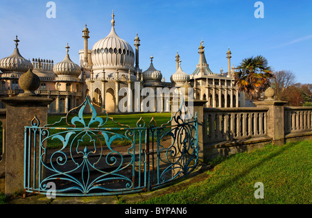 The Royal Pavilion, Brighton, East Sussex, England - Stock Photo