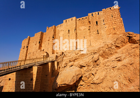 Qalaat Ibn Maan, the Arab Castle, at Palmyra, Syria - Stock Photo