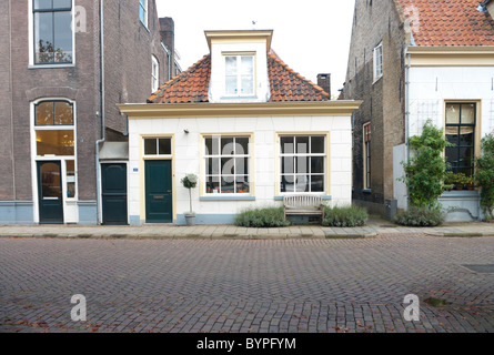 small monumental house in zwolle, netherlands - Stock Photo