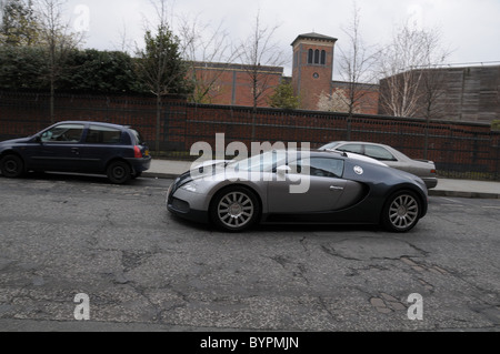 an expensive bugatti veyron parked up on a street in. Black Bedroom Furniture Sets. Home Design Ideas