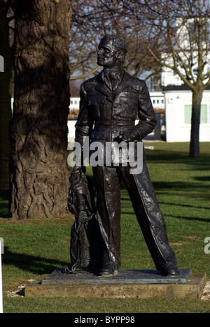DOUGLAS BADER MEMORIAL  GOODWOOD AIRFIELD - Stock Photo