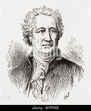 Johann Wolfgang von Goethe, 1749 to 1832. German writer and polymath. - Stock Photo