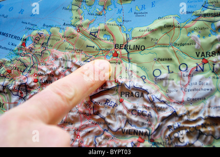 map in relief europe france germany italy stock photo