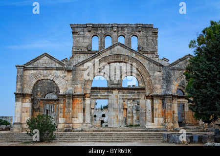The ruins of the church of St Simeon, Syria - Stock Photo