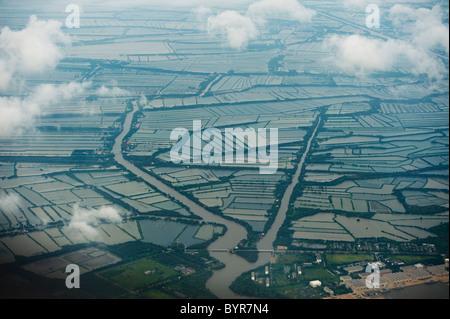 aerial view of bangkok; bangkok, thailand - Stock Photo