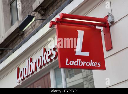 Ladbrokes betting shop, London, United Kingdom - Stock Photo