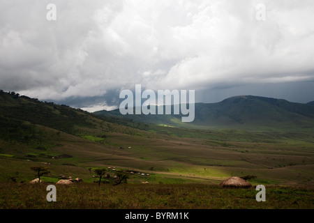 Landscape in the Great Rift valley, Northern Tanzania, Africa - Stock Photo
