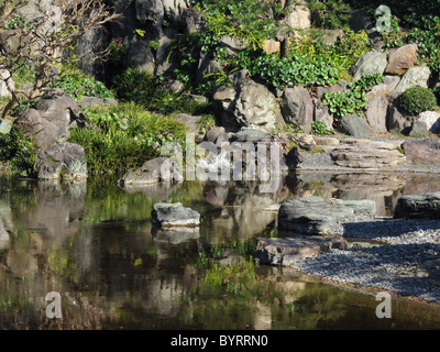 View from the Imperial Palace east garden, Tokyo, Japan - Stock Photo