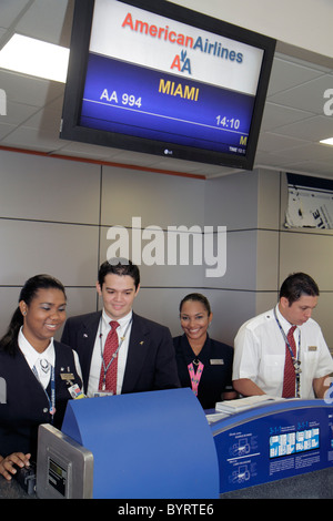 Panama City Panama Aeropuerto Tocumen airport PTY aviation terminal American Airlines international flight to Miami - Stock Photo