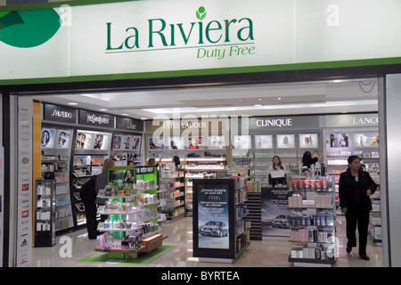Panama City Panama Aeropuerto Tocumen airport PTY shopping terminal concession duty free La Riviera cosmetics perfume - Stock Photo