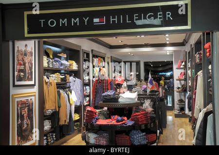 Panama City Panama Aeropuerto Tocumen airport PTY shopping terminal concession apparel designer store Tommy Hilfiger - Stock Photo