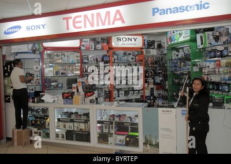 Panama City Panama Aeropuerto Tocumen airport PTY shopping terminal concession electronics shop brand Panasonic - Stock Photo