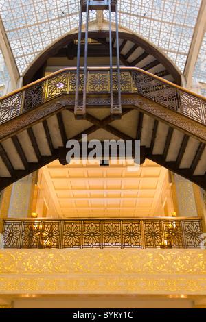 interior of the Rookery, 209 South LaSalle Street, Chicago, Illinois, USA - Stock Photo